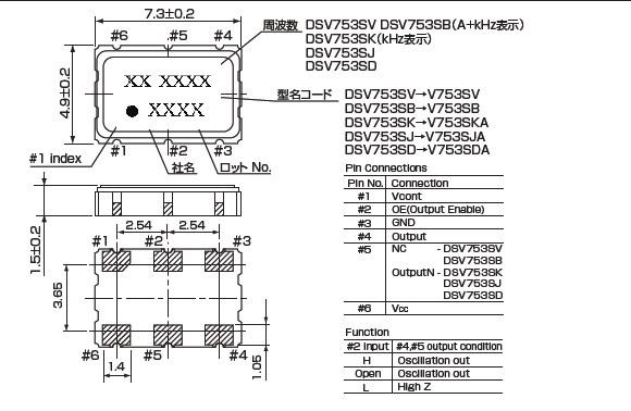汽车电子晶振,dsv753sv有源晶振,vcxo压控振荡器